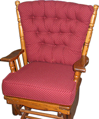 Reupholstery of rocking chair