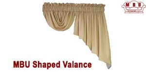 Shaped Valances window covering by MBU Interiors Custom Window Treatments