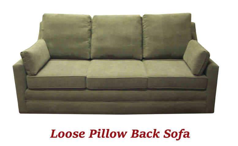Loose Pillow Back Sofa - MBU Furniture Line