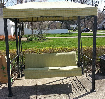 Patio Furniture Swing cushions and awning finished by MBU