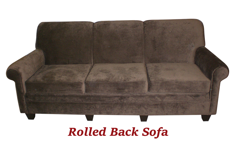 Rolled Back Sofa - MBU Furniture Line
