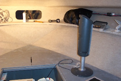 Boat Interior Upholstery 2 New Fabric Installed On Walls And