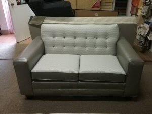 Loveseat with mix and match fabrics