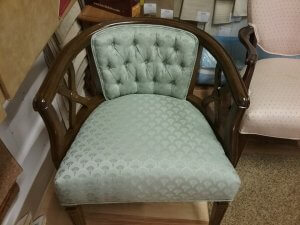 Bentwood framed chair after reupholstery.