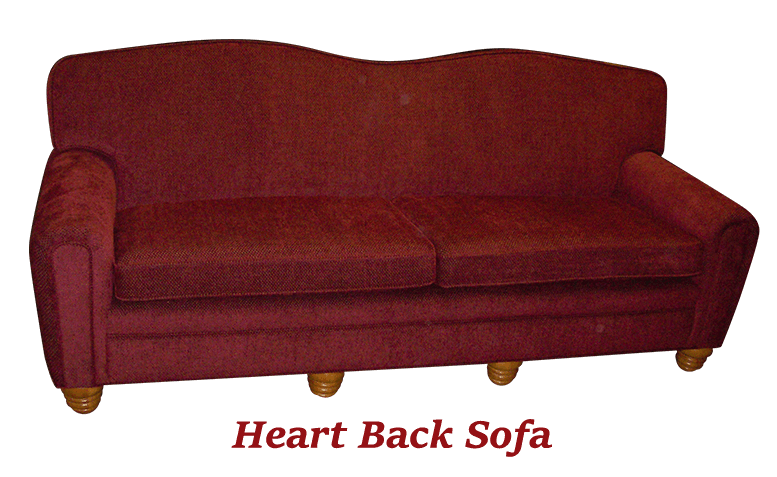 Heart Back Sofa 2 - MBU Furniture Line